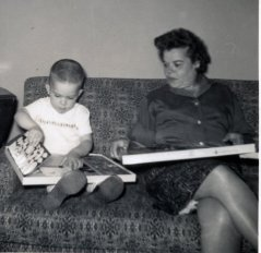 Grandma and I in my pre-hockey years.